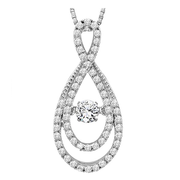 Rhythm of Love Diamond Pendent featuring 5/8 ctw diamonds in 14K Gold