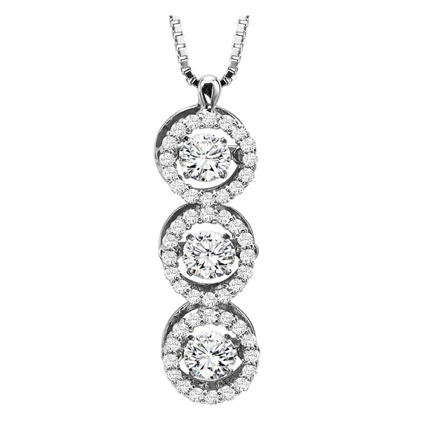 Rhythm of Love Diamond Pendent featuring 1.00 ctw diamonds in 14K Gold