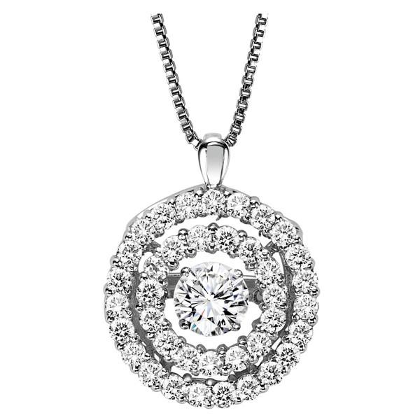 Rhythm of Love Diamond Pendent featuring 3/8 ctw diamonds in 14K Gold