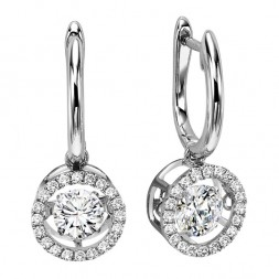 Rhythm of Love Diamond Earrings featuring 3/4 ctw diamonds in 14K Gold