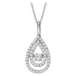 Rhythm of Love Diamond Pendent featuring 3/8 ctw diamonds in 14K Gold