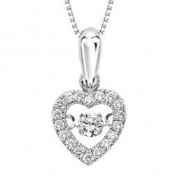 Rhythm of Love Diamond Pendent in 10K Gold