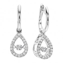 Rhythm of Love Diamond Earrings in 10K Gold