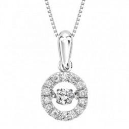 Rhythm of Love Diamond Pendent in 10K Gold
