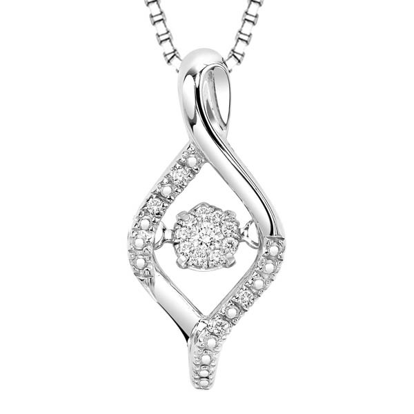 Rhythm of Love Diamond Pendent in Sterling Silver