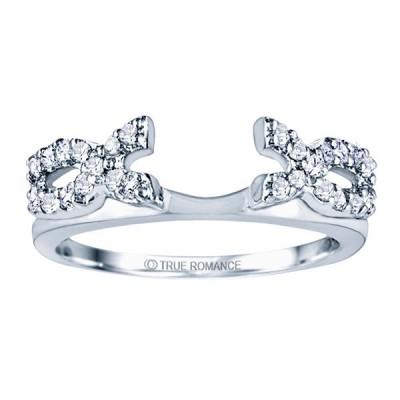 Rw724-14k White Gold Ring Wrap