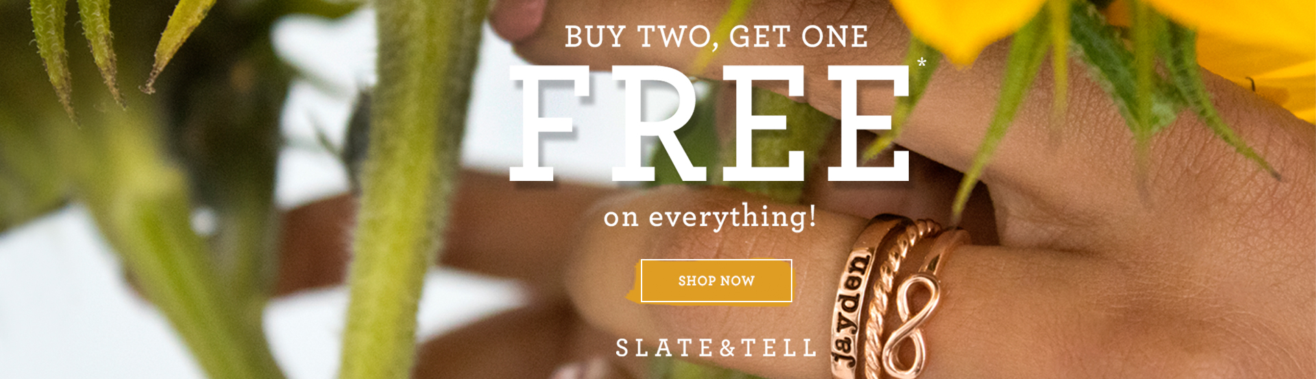 Buy 2 Get 1 Free Slate and Tell