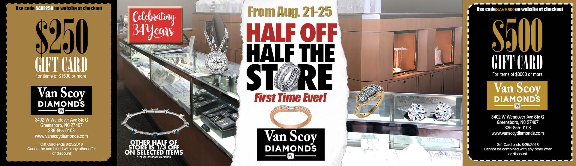Half Off Half the Store