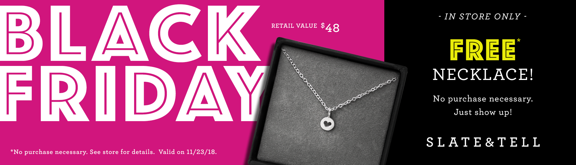 Free Necklace On Black Friday!