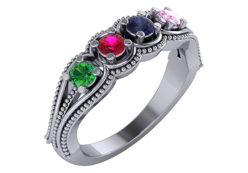 Family Gemstone Rings Greensboro, NC | Van Scoy Diamonds